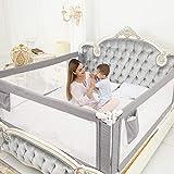 ZEHNHASE Bettgitter, Kinderbettgitter zum vertikalen Heben, Sicherheitsschutz, Bettgitter zum Schutz...