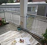 Schutznetz für Kinder & Haustiere Balkonnetz Treppennetz 300 x 74 cm weiß